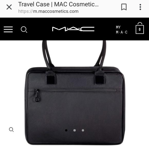 MAC Cosmetics Handbags - MUA MAC cosmetics travel case pro makeup kit bag